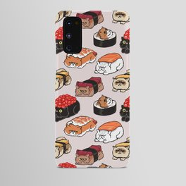 Sushi Persian Cat Android Case