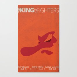 Art of Fighting Minimal (The King of Fighters XII teams series) Canvas Print