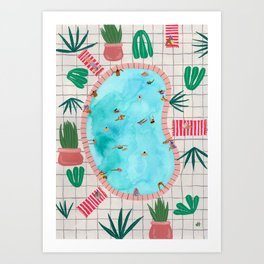 Patio pool Art Print