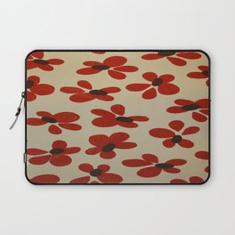 Red and Cream Pattern Design  - Abstract Flower - Wild Veda Laptop Sleeve