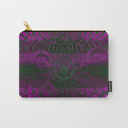 Wild Emerald Green Purple Circle 3D Abstract Carry-All Pouch