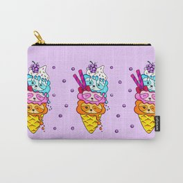 Triple Scoop Sloth Ice Cream Carry-All Pouch