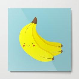 Happy Banana Bunch Metal Print