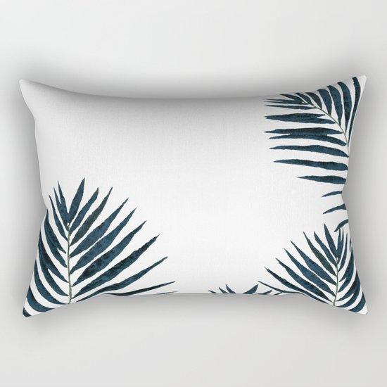 Fern Black Rectangular Pillow