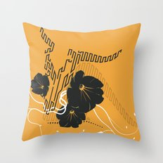 Untitled Art - Orange Throw Pillow