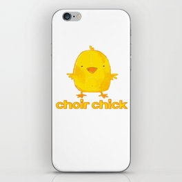 choir chick iPhone Skin