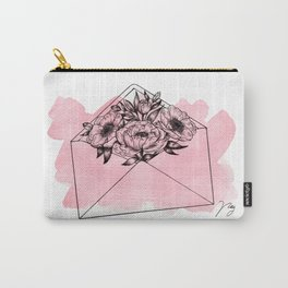 Mailed With Love Pink Carry-All Pouch