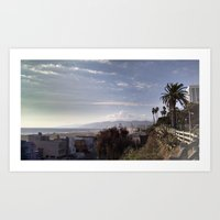 santa monica Art Prints featuring Santa Monica by Merse