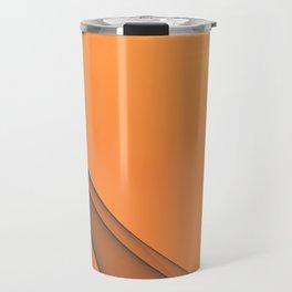 Zen Beach Orange Travel Mug