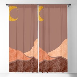 Abstract background landscapes with night boho Blackout Curtain