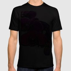 :: Orchids at Breakfast :: MEDIUM Black Mens Fitted Tee