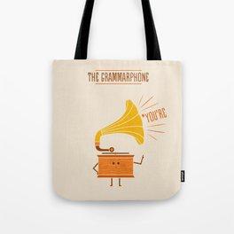 Grammarphone Tote Bag