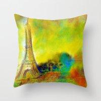 eiffel Throw Pillows featuring Eiffel by Alexandre Reis