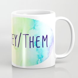 They Them Pronouns (Watercolor Rainbow) Coffee Mug