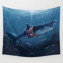 Shark in a Shirt Wall Tapestry
