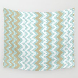 Chevrons and Dots Wall Tapestry