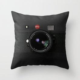 Vintage Black Camera Throw Pillow