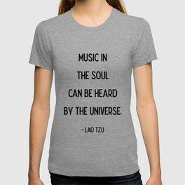 Quotes: Lao Tzu: Music. T-shirt