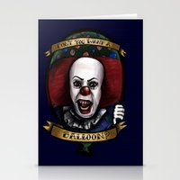 """pennywise Stationery Cards featuring """"Don't you want a ballon?"""" by Gabriela Ash Illustrations"""