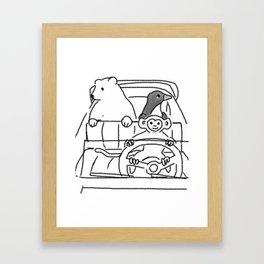 Joy Ride At The Zoo Framed Art Print