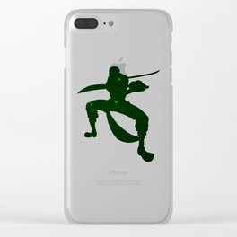 Anime Space Zoro Inspired Shirt Clear iPhone Case