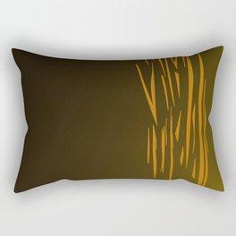Gold lines on choco Rectangular Pillow