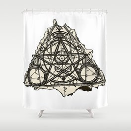 Imperfect Symmetry Shower Curtain