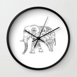 Elephant Tattoo Wall Clock