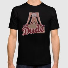The Big Lebowski - Dude Mens Fitted Tee Black MEDIUM