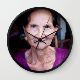 Balinese woman - portrait - travel photography Wall Clock