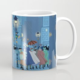 November Evening Bus Stop Coffee Mug