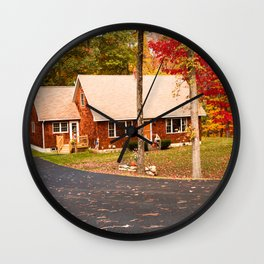 cottage in vermont Wall Clock