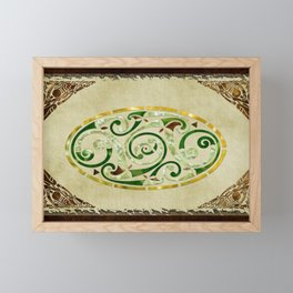 Celtic Old Traditional Tapestry Framed Mini Art Print