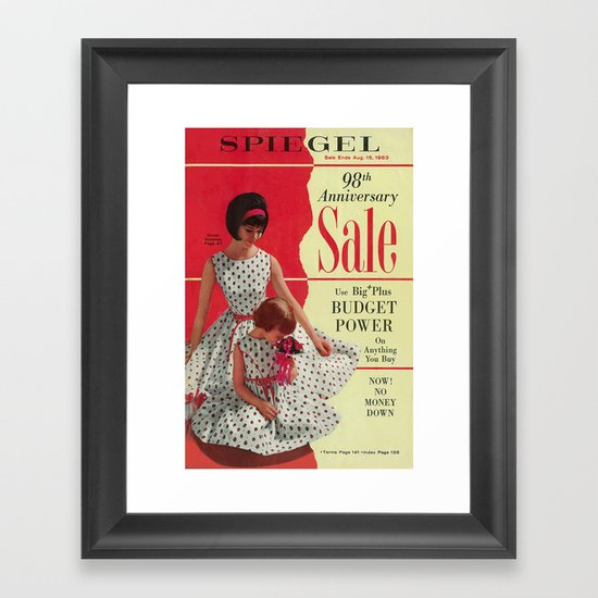 1963 - 98th Anniversary Sale -  Summer Catalog Cover Framed Art Print