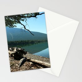 Turquoise Blue Waters Of McDonald Lake Stationery Cards