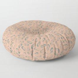 Peanut butter - peanut seamless pattern design light terracotta and charcoal Floor Pillow