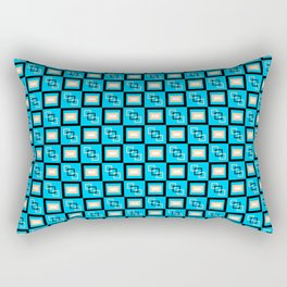 Pattern Cube Blue Rectangular Pillow