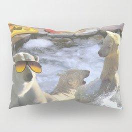 Polar Bear Hot Tub Pillow Sham