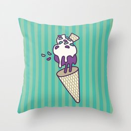 Blackberry Antigravity Ice Cream Throw Pillow