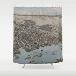 Jacksonville, Florida 1876 Shower Curtain