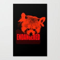 Endangered Red panda Canvas Print