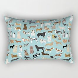 Dogs pattern print must have gifts for dog person mint dog breeds Rectangular Pillow