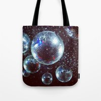disco Tote Bags featuring Disco by Elle