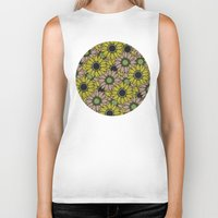 sunflowers Biker Tanks featuring Sunflowers by Anna McKay