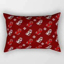 Formula Cars red and white Rectangular Pillow