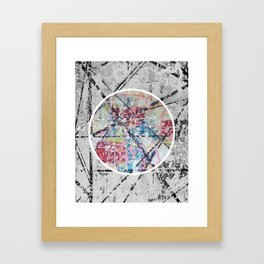 Crossroads No.3 - black and white Framed Art Print