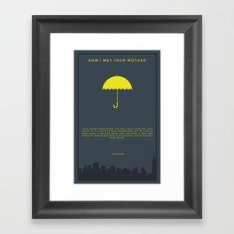How I Met Your Mother - Yellow Umbrella Framed Art Print