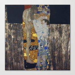 The Three Ages Of Woman Gustav Klimt Canvas Print