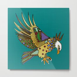 jewel eagle turquoise Metal Print