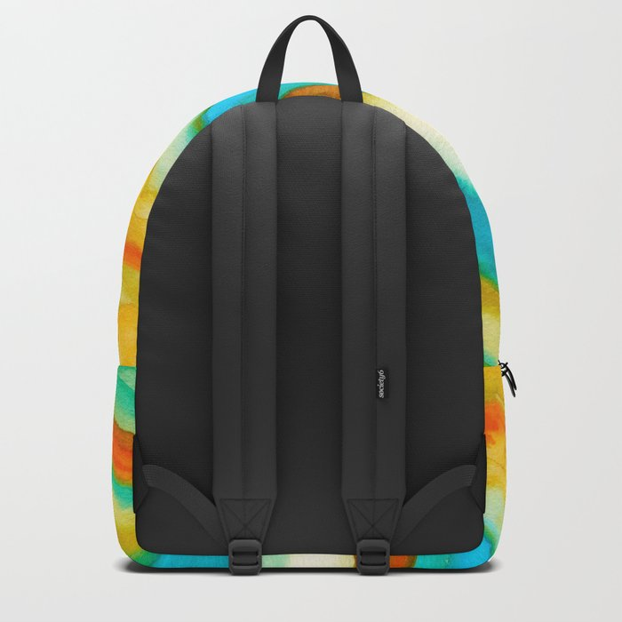 AGATE Inspired Watercolor Abstract 10 Backpack